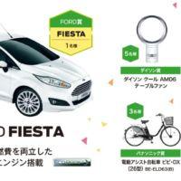 メルマガ登録で外車フォードフィエスタや人気家電が当たる豪華懸賞!