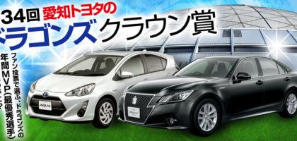 人気のハイブリッドカー「アクアS」が当たる自動車懸賞!