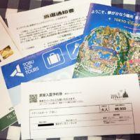 ディズニーランド入場チケット&ホテル宿泊券が当選しました!