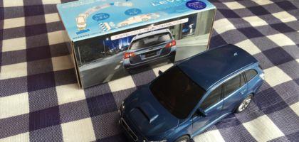 SUBARU LEVORGに試乗して、ぶつからないミニカーを頂きました!