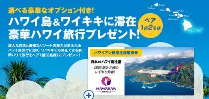 4泊6日のハワイ旅行が当たる豪華海外旅行懸賞!