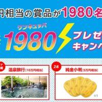 総額150万円相当の賞品が1,980名様に当たる高額懸賞!