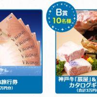100名様に5万円分の旅行券など、豪華賞品が当たる高額懸賞!