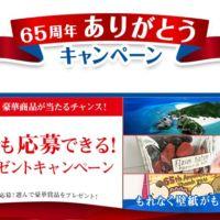 ヘリコプタークルージング付き「沖縄旅行」が当たる高額懸賞!