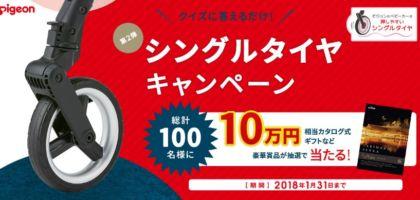 カタログギフト10万円分や子育てセットなどが当たる、ピジョンの豪華懸賞!