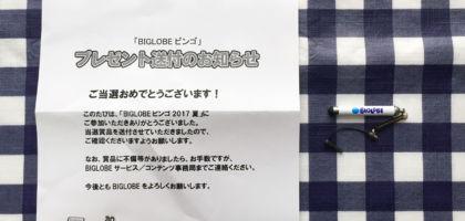 「BIGLOBEビンゴ 2017夏」の当選品が届きました!