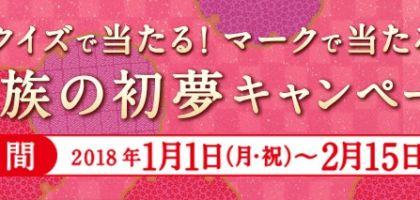 お年玉100万円が5名様に当たる丸美屋のお正月懸賞!