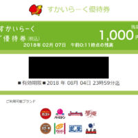 Twitter懸賞で「すかいらーくグループ」お食事券1,000円分が当選!