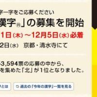 高額旅行券が当たる「今年の漢字」Twitterキャンペーン!