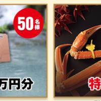 JTB旅行券6万円分が「50名様」に当たる豪華・高額懸賞!
