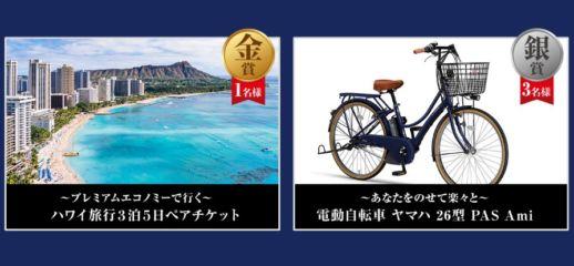 ヘルスメーター川柳を投稿してハワイ旅行や電動自転車が当たる!