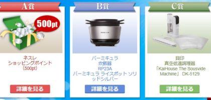 バーミキュラの炊飯器が当たる高額家電懸賞