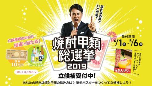 好きな飲み方の選挙ポスターを作る、焼酎甲類総選挙!