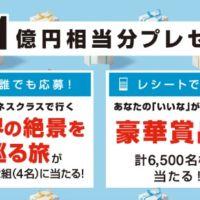 海外旅行や豪華家電など「総額1億円」相当が当たる高額懸賞!