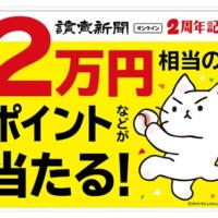 2万円相当のポイントが当たる読売新聞オンラインの高額懸賞!