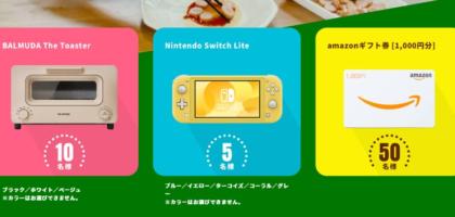 バルミューダ ザ・トースターやNintendo Switch Liteが当たるピザ作り懸賞!